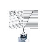 法国大溪地黑珍珠 14K白金项链 项链