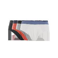 男式玩色内裤白色+浅麻灰+黑色+暗红*S