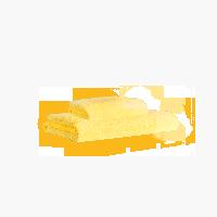 埃及进口长绒棉毛浴巾组合明黄(毛巾+浴巾)x1条