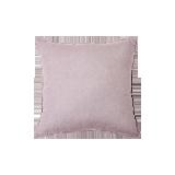 日式纯色水洗亚麻抱枕灰紫
