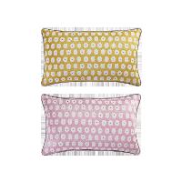 科爾瑪小鎮·提花抱枕套 2件組合裝科爾瑪小鎮·提花抱枕套 2件組合裝*檸檬黃+浪漫粉(抱枕套+抱枕芯)