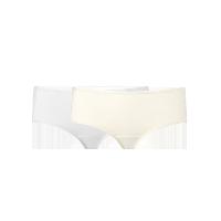 女式基础柔弹精梳棉内裤(云灰色+裸肤色)2条*XL