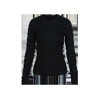 女式可机洗圆领纯羊毛衫黑色*S(160/80A)≈165g