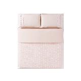 水洗棉泡泡紗四件套1.5m(5英尺)床*裸粉色(床笠款)