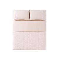 水洗棉泡泡纱四件套1.5m(5英尺)床*裸粉色(床笠款)