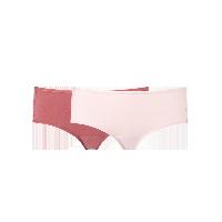 女式基础柔弹精梳棉内裤(橡皮红+玫瑰粉)2条*L