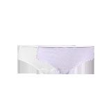 女式基礎柔彈精梳棉內褲白色+茄花紫*XS