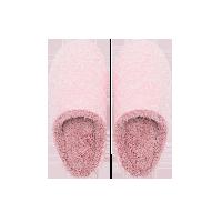 日式简约纯色舒棉绒拖鞋粉色*女款M码