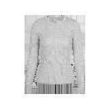 女式可机洗圆领纯羊毛衫浅花灰*S(160/80A)≈165g
