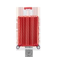 24寸碳纖維紋鋁鎂拉桿箱寶石紅
