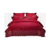 霓裳凤翎刺绣婚庆十件套1.8m床:适用2.2mx2.4m被芯