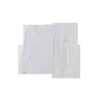 女式高奢羊毛内衣套装米白色*M
