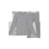 男式咖啡碳+3℃保暖内衣(上衣+裤子)浅麻灰套装*M