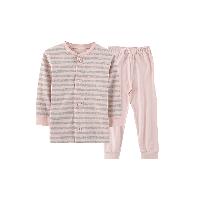日式棉接結家居服套裝(兒童)蜜桃粉*100cm