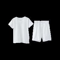 竹節棉短袖套裝(兒童)白色*100cm