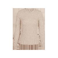 女式可机洗圆领纯羊毛衫浅米灰*S(160/80A)≈165g