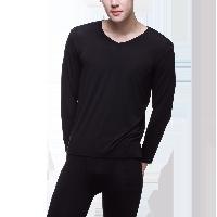 男式隐形莫代尔内衣套装黑色*XL