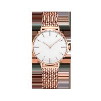 女式Classic蓝宝石镜面手表金边白底*金色钢带