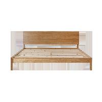 林音系列实木床(有家民宿专用)1.8米原木色床