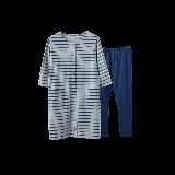 孕产妇月子服家居服 可哺乳套装藏青色
