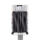 24寸碳纖維紋鋁鎂拉桿箱經典黑