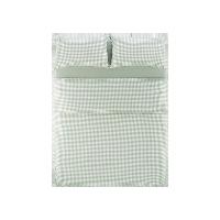 日式全棉格纹四件套 新款1.8m床:适用2.2mx2.4m被芯*绿色小格纹(床笠款)