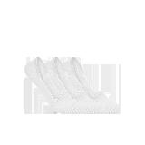 女式纯色抑菌隐形袜白色(三双装)