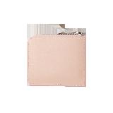 牛皮雅致零錢包粉色