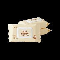 棉质生活 80片 婴幼儿全棉湿巾80pcs*3包(新包装组合)