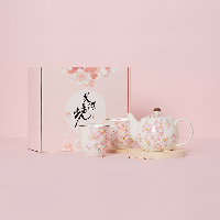櫻花限定·日本制造 美濃燒櫻花茶具三件套三件套禮盒裝