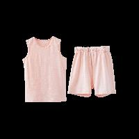 竹節棉背心套裝(兒童)粉色*110cm