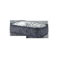 梭织布可折叠旅行收纳包黑色 中款 单层