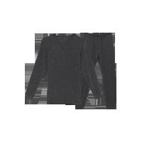 男式咖啡碳保暖内衣(可单买上衣/裤子)深麻灰保暖套装*M