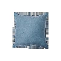 日式纯色水洗亚麻抱枕蓝色