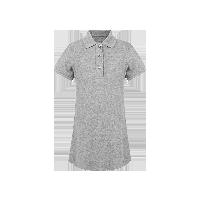 女童短袖Polo长衫  4-16岁浅灰*110cm(建议拍大一码)