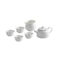 羊脂玉白茶具禮盒6件套1*壺;1*公道杯;4*品茗杯