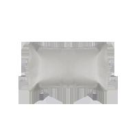皇室御用頭層水牛皮席薄灰色(枕套x2)