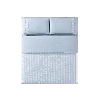 水洗棉泡泡纱四件套1.5m(5英尺)床*雾蓝色(床单款)