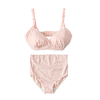 孕产妇哺乳文胸内裤套装(特殊规格)麻灰色文胸1件+内裤1条