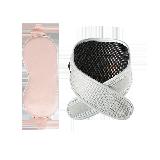 石墨烯熱敷 真絲眼罩+護頸套組眼罩粉色+護頸灰色