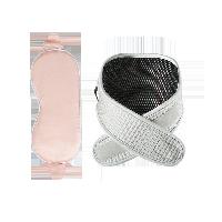 石墨烯热敷 真丝眼罩+护颈套组眼罩粉色+护颈灰色