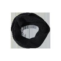 纯色羊绒混纺针织围脖黑色