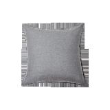日式纯色水洗亚麻抱枕灰色