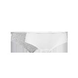 女式基础柔弹精梳棉内裤(麻灰+白色)2条*L