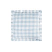 日式水洗棉格紋抱枕套66cmx66cm(僅抱枕套)*水波藍