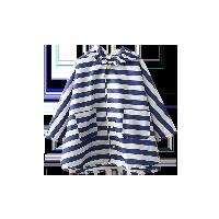 海軍小斗篷雨衣藍白條紋