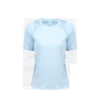 女式露背拼接運動T恤衫粉藍*S