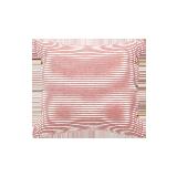日式色织水洗棉条纹靠垫真朱红