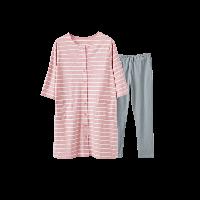 孕产妇月子服家居服 可哺乳套装粉色