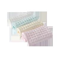 婴儿华夫格小方巾4条装(白色+黄色+粉色+绿色)